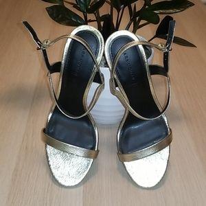 Zara Shoes - ZARA Gold Stilettos
